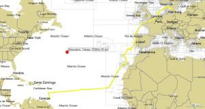 2. Swinoujscie - Tobago 6755Nm - 161 dni